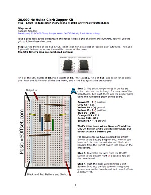 Instructions to Build Your Own Hulda Clark Zapper Breadboard Kit