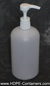 HDPE Bottle with Pump 32 Oz